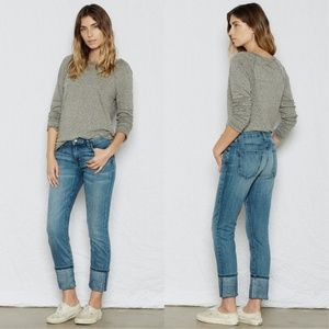 Current / Elliott The Cuffed Skinny in Blue NWT